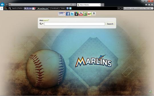 MLB Miami Marlins Theme for Internet Explorer