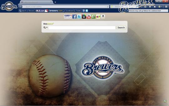 MLB Milwaukee Brewers Theme for Firefox