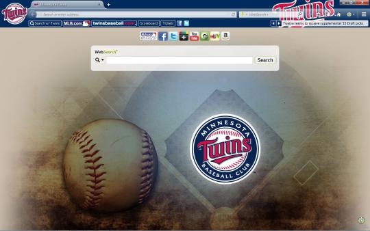 MLB Minnesota Twins Theme for Firefox