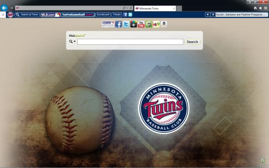 MLB Minnesota Twins Theme for Internet Explorer