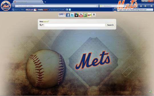 MLB New York Mets Theme for Firefox