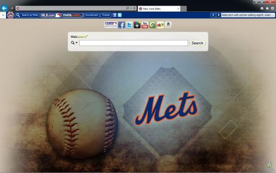 MLB New York Mets Theme for Internet Explorer