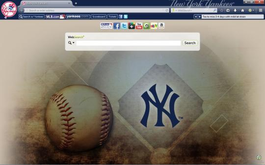 MLB New York Yankees Firefox Theme