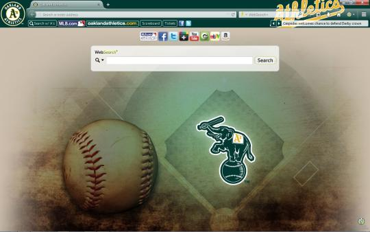 MLB Oakland Athletics Theme for Firefox