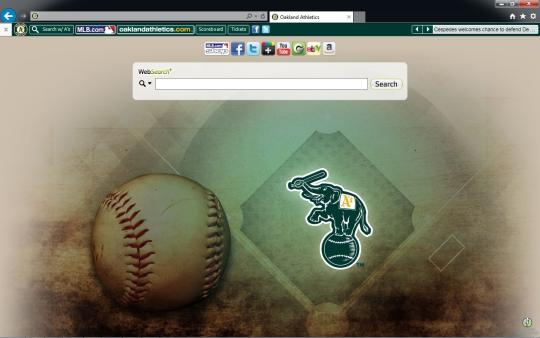 MLB Oakland Athletics Theme for Internet Explorer