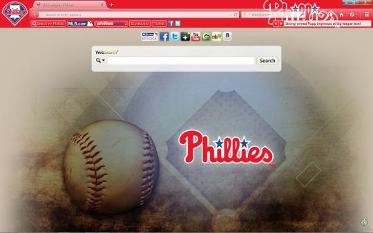 MLB Philadelphia Phillies Theme for Firefox