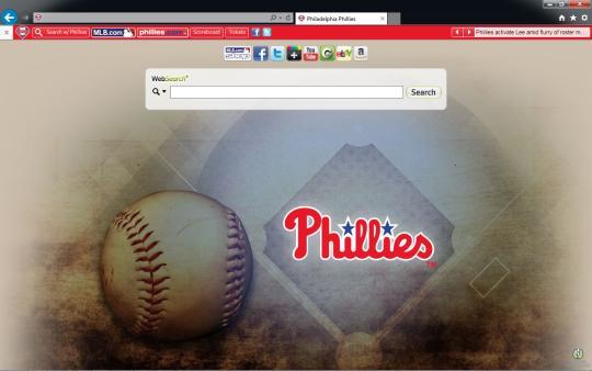 MLB Philadelphia Phillies Theme for Internet Explorer