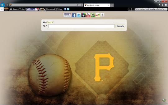 MLB Pittsburgh Pirates Theme for Internet Explorer