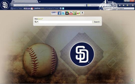 MLB San Diego Padres Theme for Firefox