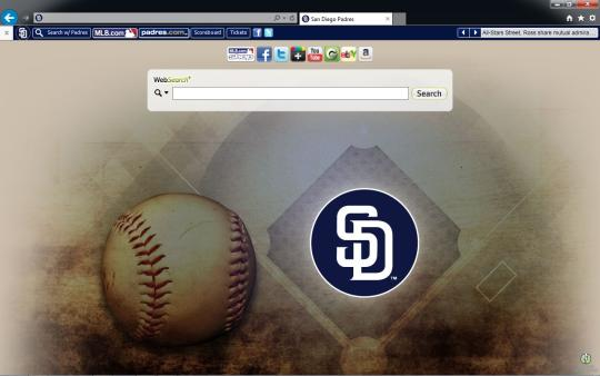 MLB San Diego Padres Theme for Internet Explorer