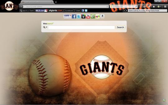MLB San Francisco Giants Theme for Firefox