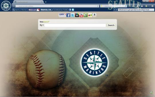 MLB Seattle Mariners Theme for Firefox