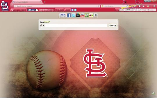 MLB St. Louis Cardinals Theme for Firefox