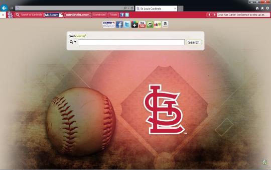 MLB St. Louis Cardinals Theme for Internet Explorer
