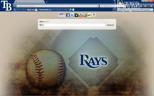 MLB Tampa Bay Rays Theme for Firefox