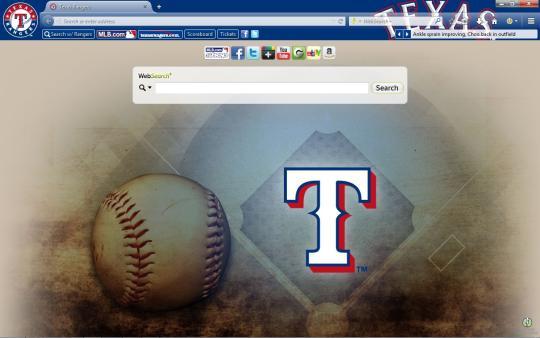 MLB Texas Rangers Theme for Firefox