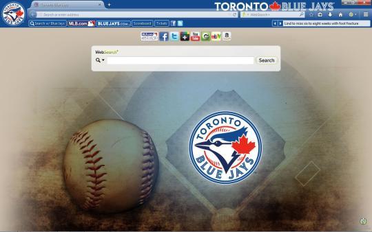MLB Toronto Blue Jays Theme for Firefox