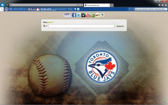MLB Toronto Blue Jays Theme for Internet Explorer
