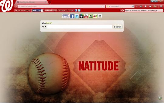 MLB Washington Nationals Theme for Firefox