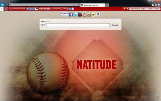MLB Washington Nationals Theme for Internet Explorer