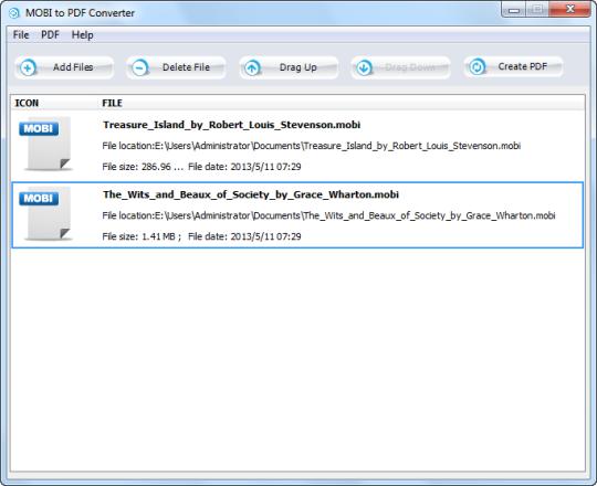 MOBI to PDF Converter