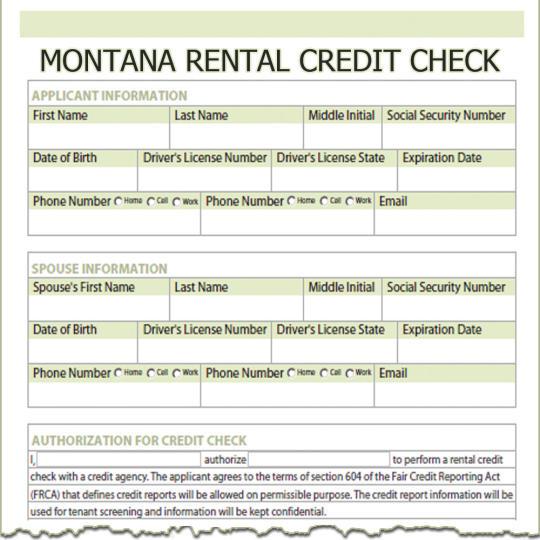 Montana Rental Credit Check