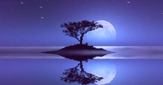Moon Reflection Screensaver