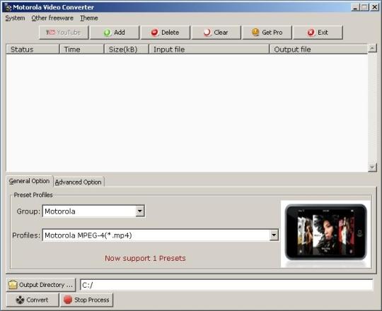 Motorola Video Converter