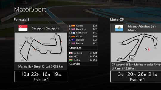 MotorSport for Windows 8