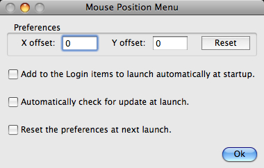 Mouse Position Menu