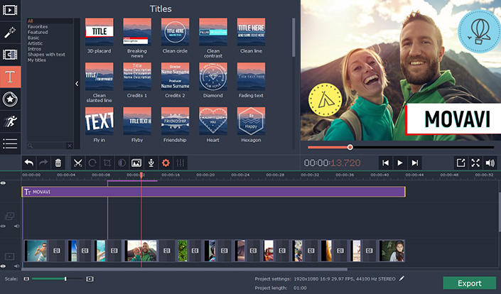 Movavi Video Editor Plus