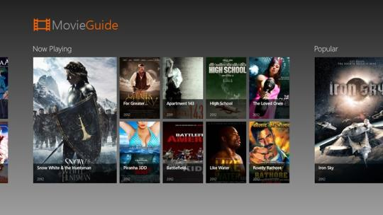 Movie Guide for Windows 8