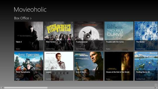 Movieoholic for Windows 8