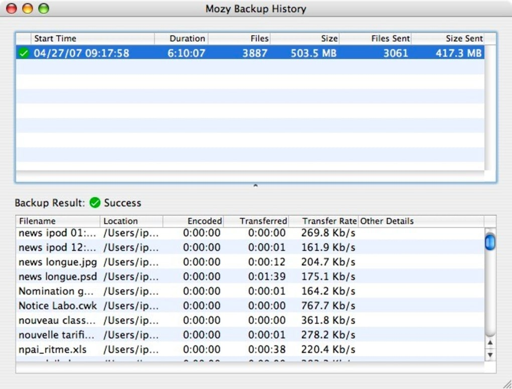 Mozy Remote Backup