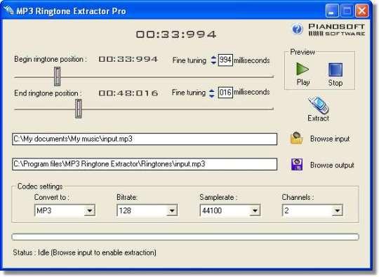 MP3 Ringtone Extractor