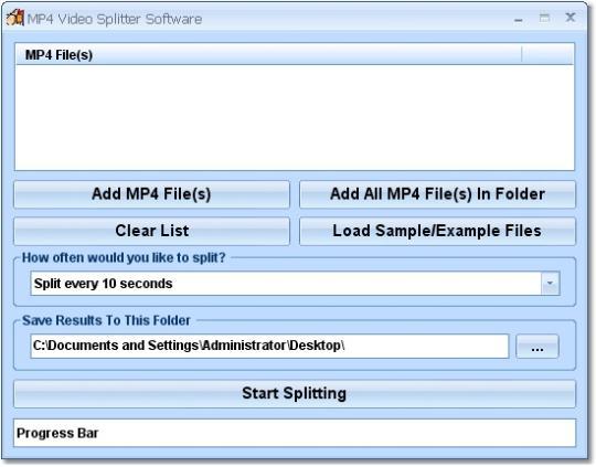 MP4 Video Splitter Software
