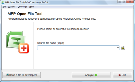 MPP Open File Tool