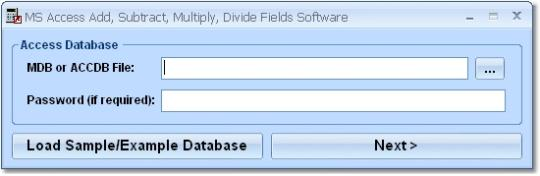MS Access Add, Subtract, Multiply, Divide Fields Software