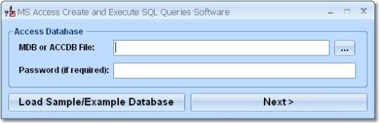 MS Access Create and Edit SQL Queries Software