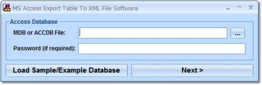 MS Access Export Table To XML File Software