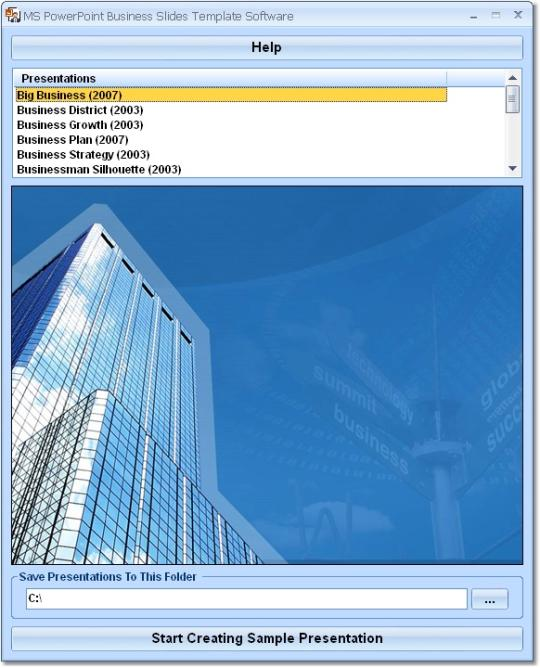 MS PowerPoint Business Slides Template Software