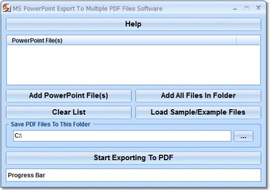 MS PowerPoint Export To Multiple PDF Files Software
