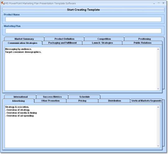 MS PowerPoint Marketing Plan Presentation Template Software