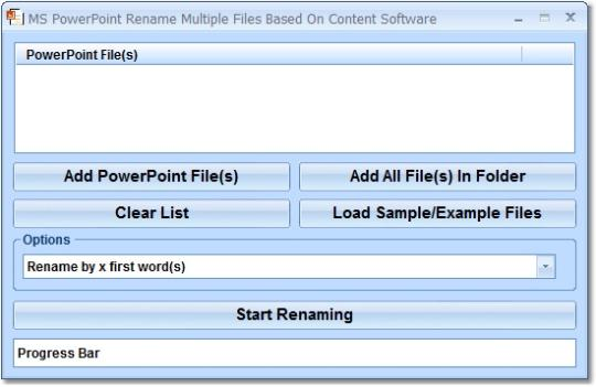 MS PowerPoint Rename Multiple Files Based On Content Software
