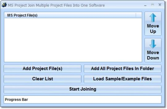 MS Project Join Multiple Project Files Into One Software