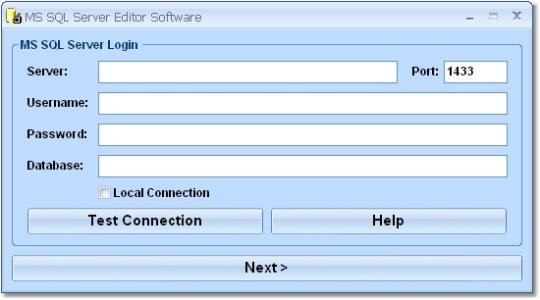 MS SQL Server Editor Software