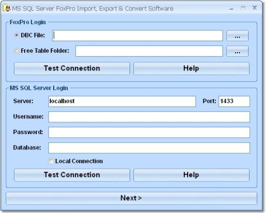 MS SQL Server FoxPro Import, Export & Convert Software