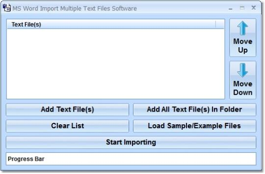 MS Word Import Multiple Text Files Software
