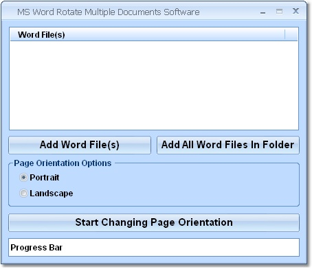 MS Word Rotate Multiple Documents Software