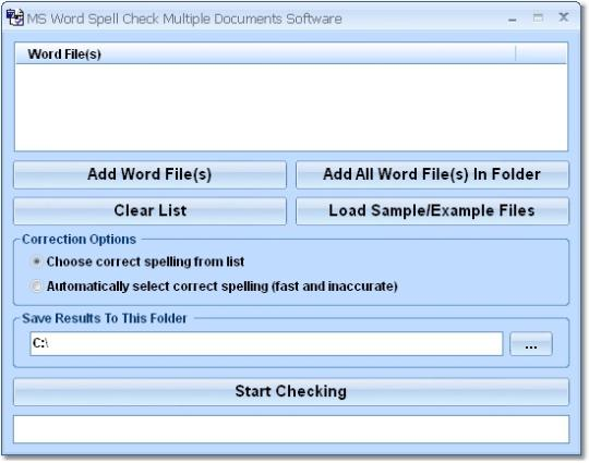 MS Word Spell Check Multiple Documents Software